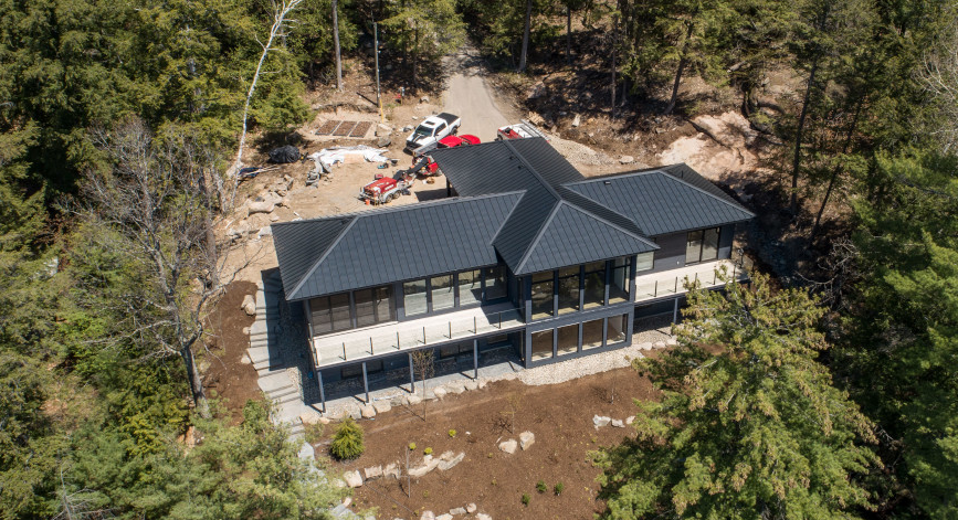 Barrs Roofing Lake Muskoka metal roofing, Port Carling, Ontario