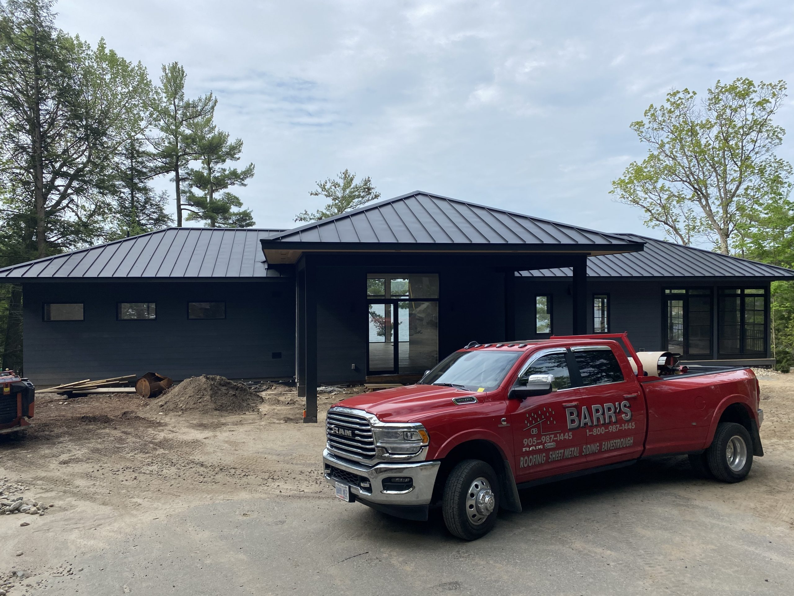 Custom Build Muskoka Ontario Metal Roofing