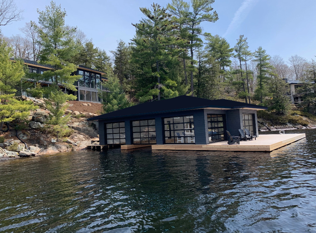 Lake Muskoka Boathouse Metal Roofing Project