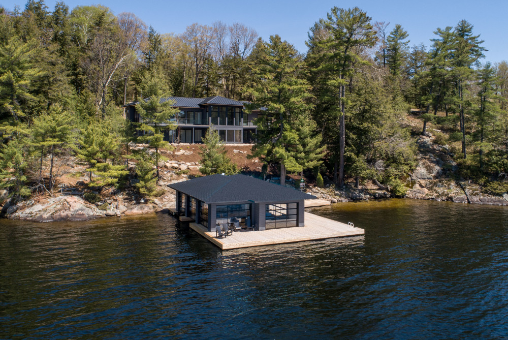 Lake Muskoka Metal Roofing Boathouse & Custom Home Project